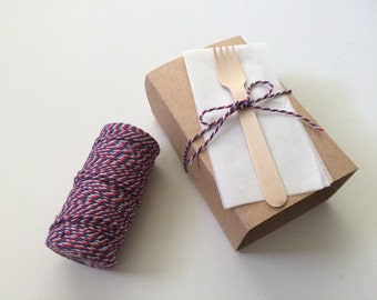 Bakers Twine, Red and Navy (110 yard spool)