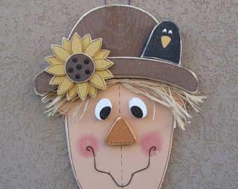 FALL SCARECROW for Autumn, Fall, wall and door hanging decor