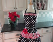 Candy Kisses - Cute for Valentines and Year Round -  Womens Retro Modern Apron ~ 4RetroSisers