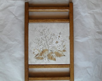Floral Ceramic Tile Hot Plate Wall hanging