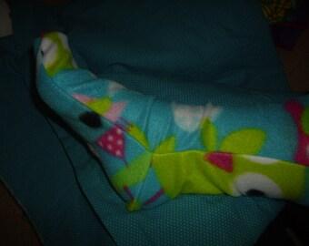 Owls and trees fleece winter socks