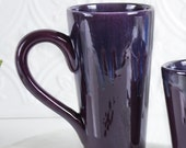 Ceramic Coffee mug, BlueRoomPottery Colorful Aqua Mint Green Eggplant Purple Blue White tea cup handmade pottery Kitchen gift