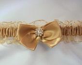 Prom Garter Gold Sparkle Wedding garter tossing Garters prom garters