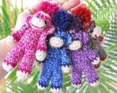 PATTERN Ima lil Monkey Key Chain Crochet PDF Pattern