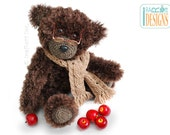 CROCHET PATTERN Teddy Bear Elvis Balthazar the Third PDF Crochet Pattern with Instant Download