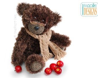 CROCHET PATTERN Teddy Bear Elvis Balthazar the Third PDF Crochet Pattern with Instant Download