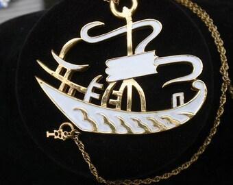 Trifari Chinese Ship Pendant