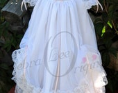 Jessica Christening Gown White Christening Dress  Blessing Gown  Blessing Dress wedding