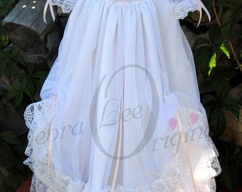 Jessica Christening Gown / White Christening Dress / Blessing Gown / Blessing Dress wedding