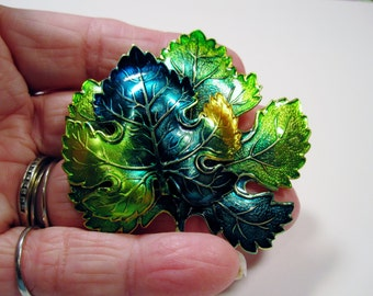 A Leaf of A Different Color Brooch   No.10