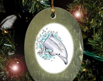 Dolphin Totem Animal Yule, Holiday, Christmas Ornament