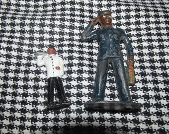 Manoil Barclay Iron Figures Porter and Waiter