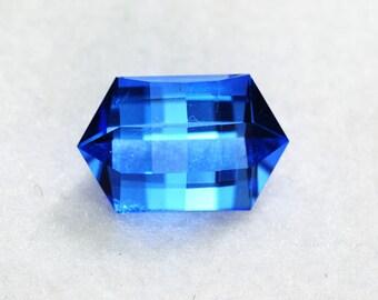 Blus Topaz Custom Cut 15x10mm 7.06 carats