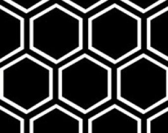 Honeycomb in Black by Camelot Fabrics - 1 yard
