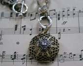 RESERVED Antique Brass Locket Necklace RESERVED