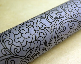 Purple Lotus Flower pattern handmade Wrapping Paper gift wrap 3 sheets floral print
