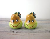 Kitsch Pear Fruit Salt and Pepper Shakers