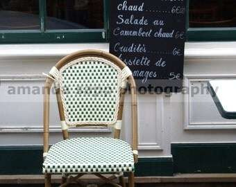 french cafe chair color photograph