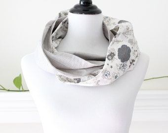 Infinity Scarf, Circle  - Gray, Taupe, Ivory