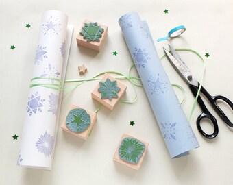 Rubber stamp set | christmas | christmas stars | DIY wrapping | STUDIO KARAMELO