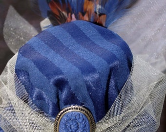 Steampunk Mini Hat- Blue