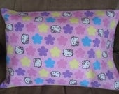 FLANNEL - Hello Kitty - Travel Size - Fits 12 x 16 Pillow - Small