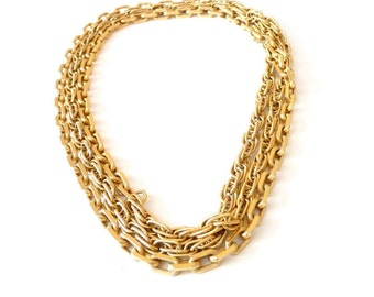 Vintage Monet Gold Chain Necklace - 54 Inches