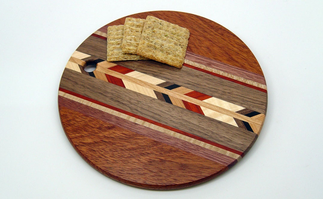 jatoba 8 round wood cutting board r by 866woodguy on etsy. Black Bedroom Furniture Sets. Home Design Ideas