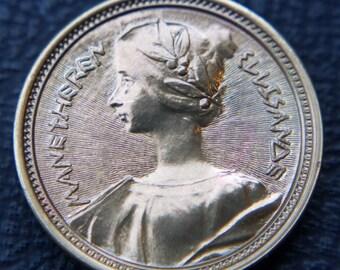 Wheel of Time Manetheren Golden Crown Coin of Ellisande