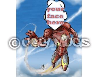 Custom Iron Man Superhero Caricature