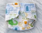 Baby Doll Diaper Elephants - Size Small