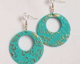 SALE ON! Polymer clay earrings. Серьги из полимерной глины