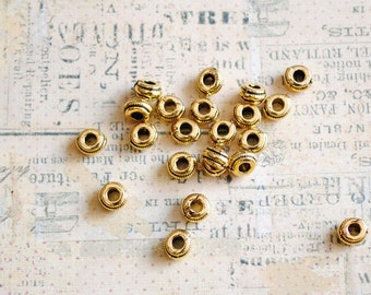 30 Pcs. Golden Plated Spacer Beads