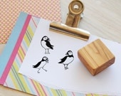 Olive Wood Puffin Stamp - Choice of 3 Designs