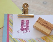 Love To Knit Olive Wood Stamp