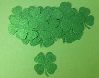 St. Patrick's Day - Glittered Shamrock Die Cuts - Set of 6