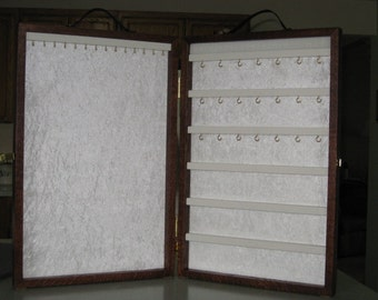 Jewelry Display Case, portable display, wood jewelry display, Ex Large - Custom order ~ Pick your layouts