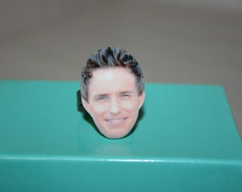 Eddie Redmayne Face Ring Jewelry