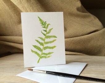Fern Notecards - a watercolor fern artist notecard set -