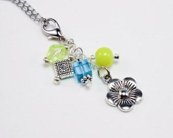 Flower Necklace - Growth - New Start - Inspirational Fresh new Start Necklace - Bright beaded Jewelry NKL034