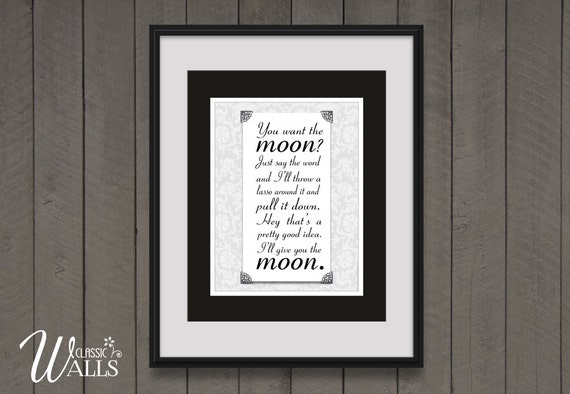 You Want The Moon Its A Wonderful Life Holiday Decor Jimmy Stewart Quote Christmas Decor