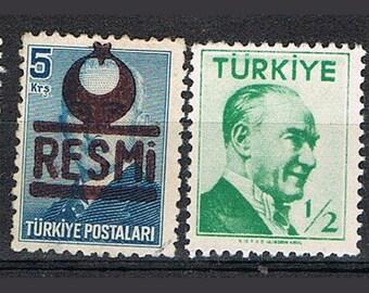 72 Old Turkish Postage Stamps - Turkey