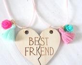 Best friends forever necklace set, mint and rose, Lemon Sweet littles
