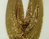 Vintage Signed Whiting Davis Bib Mesh Necklace and Earrings
