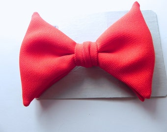 Vintage Bow Tie red dead stock clip on tie - on sale
