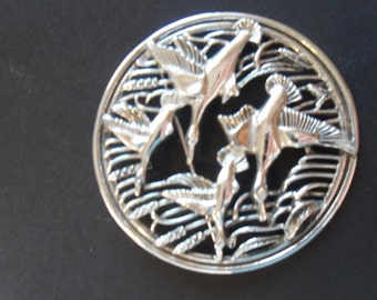 Clearance Vintage Bird Brooch/Pin Geese Flying