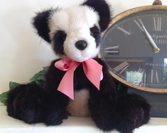 Yinyang, A Real Black and White Mink Fur Panda Bear