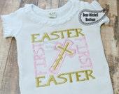First Easter Cross applique