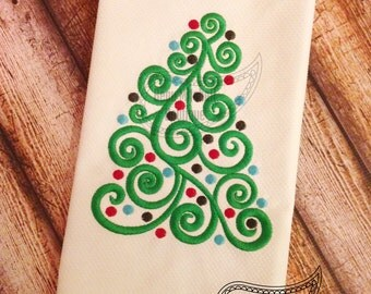 New Swirl tree embroidery design