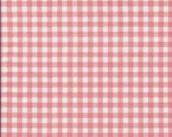 Gingham Powder Pink  Fabric, 1 Yard Oilcloth